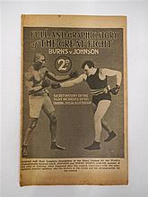 Full and Graphic Story of the Great Fight - Burns v Johnson, pub. Boxing Magazine, London 1908. 32 pages.