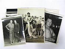 Boxing and Wrestling Photographs - a box of approx. 100 original photographs of boxers and wrestlers, mostly 1930s and 40s including
