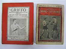 The Art of Boxing and Self-Defence by Prof. Donovan, Street & Smith NY 1902. Original illustrated volume missing back-cover; togethe...