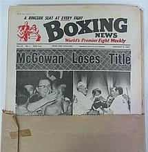 Boxing News - four unbound volumes from 1965-68. (4)