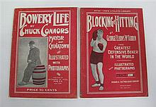 Bowery Life by Chuck Conners (Richard Fox 1904); togtether with Blocking & Hitting by McFadden (Fox 1905), both in very good order. (2)
