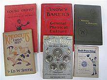 Six Good Boxung Books - including Snowy Baker, Young Griffo (1928), Knockouts I have Seen by Smith (1922), The History of Duelling b...