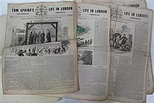 Tom Spring's Life in London and Sporting Chronicle, 1840-41. Elephany folio, each four pages of this illustrated sporting classic we..
