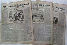 Tom Spring's Life in London and Sporting Chronicle, 1840-41. Elephant folio, each four pages of this illustrated sporting classic we..
