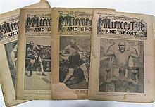 The Mirror of Life, 1910. Small group with three Jack Johnson covers.