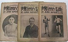 The Mirror of Life, eight copies 1911 including covers showing Carpentier, McGoorty, and Jack Johnson.