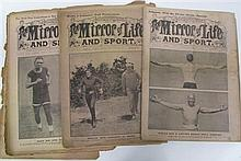 The Mirror of Life 1911-12. Large batch including covers showing Jack Johnson.