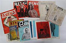 Asutralian Ring - seven copies 1933, without covers; plus several front & back covers, and an original flyer for Bob Kruse fight at...