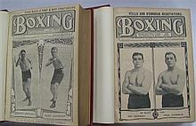 Boxing 1910-1911, two bound volumes. Very scarce.
