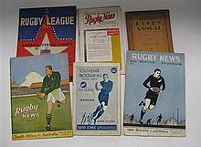Rugby - Rugby News, South Africa vs Australia 1937; New Zealand vs Australia 1938, All Black vs Australia 1934; America vs Sydney 19...