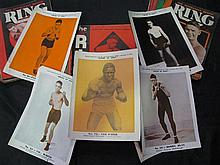The Australian Boxing Ring Magazine - 1932, 1933, 1934. 80+ copies; together with seven colour suppliments 'Heroes of Sport'