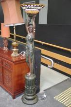 Bronze Style Standing Lady Figure Lamp
