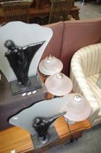 Pair Of Dancing Figure Table Lamps And Three Others