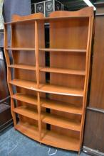 Bow Front Organic Form Bookcase