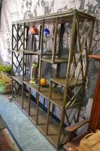 Large Bamboo Style Open Bookcase