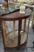 Art Deco Bowfront Display Cabinet