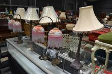 Two Sets Of Four Table Lamps
