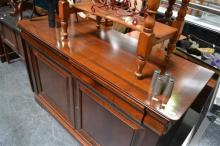 French Cherrywood Sideboard - Label to Back