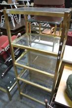 Brass Open Bookshelf