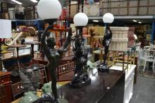 Series Of Three Figural Dancing Lamps