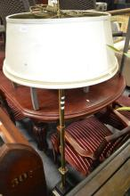 Marble Base Standard Lamp w Shade