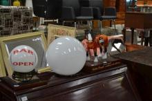 Set Of Three Bar Lamps Including Carlton Draught Horse Lamp And 2 Ball Examples