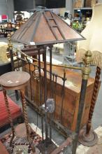 Amber Shade Standard Lamp