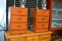 Pair Of Three Drawer Bedside Cabinets