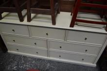 Timber Entertainment Unit with 7 Drawers