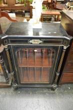 Empire Style Ebonised Music / Wine Cabinet Circa. 1870 Makers Mark: Moore & Hunton, London.width 78cm.