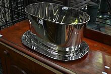 Silver Champ Bucket & Dish Inscribed Napoleon