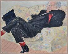 Peter Kingston (1943 - ) - Portrait of Clive Evatt Jr. 1993 61 x 76cm