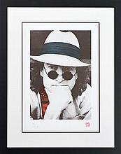 Yoko Ono Lennon (1933 - ) - Portrait of John Lennon 37 x 25.5cm