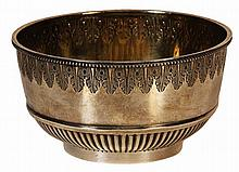 English Hallmarked Sterling Silver Victorian Bowl