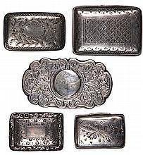 English Hallmarked Sterling Silver Georgian Vinaigrettes