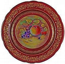 Paragon Hand Painted Fruit Plate
