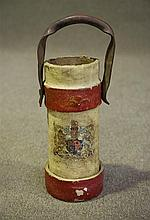 French C19th leather shell carrier