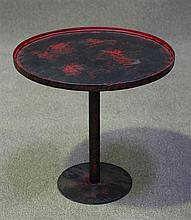 Metal Wine Table in Red