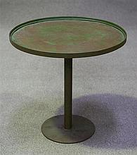 Green Circular metal wine table