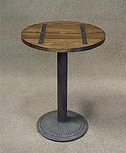 Round Sailmakers Table on pedestal base