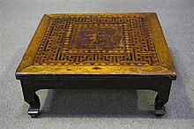 A 19C Chinese Hardwood Square Kang Table,
