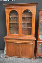 Late 19th Century Cedar Glass Front Bookcase