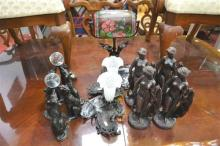 Collection of Varied Figures & Table Lamps