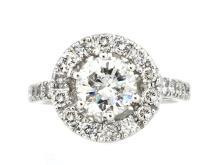 1.19ct. Center Round Diamond Ring 18K-EGL SI2_E