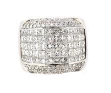 4.50ct.tw Princess Cut Diamonds Ring 14K
