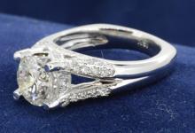 2.05ct. Center Round Diamond Ring 18K-EGL SI2-D