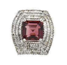 6.42ct Center Tourmaline Ring 18K