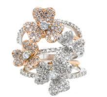 2.25ct.tw Diamond Flower Design Ring 18K
