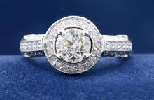 6.97ct Cushion Shape Peridot Ring 18K
