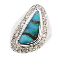 4.21ct. Australian Opal Ring 14K